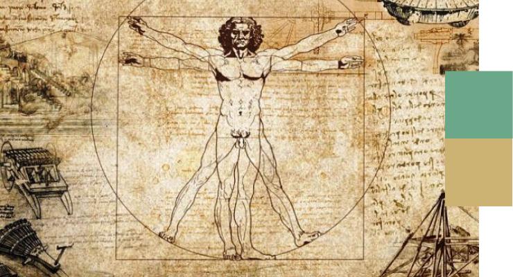 L'uomo al centro del percorso di leadership, come nell'immagine di Leonardo